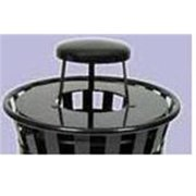 Witt Industries M3600-R-RC-BK Receptacle with rain cover lid and plastic liner- black