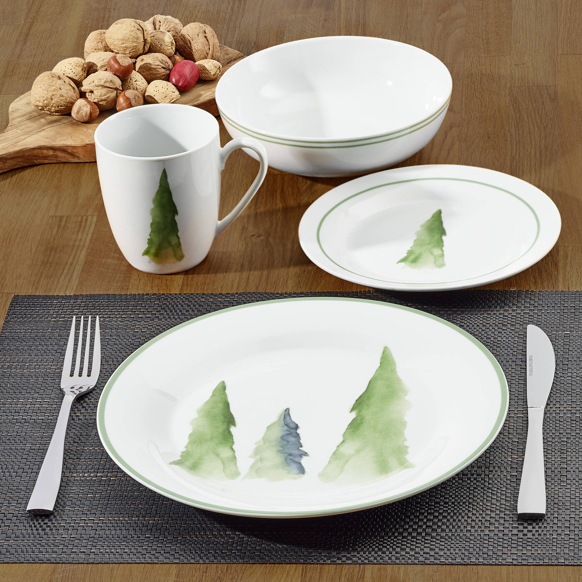 Better homes gardens nature collection tree dinnerware - Better homes and gardens dish sets ...