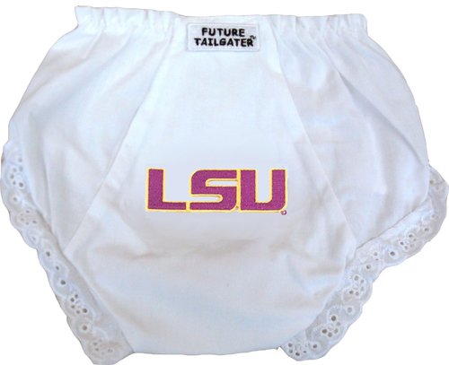 LSU Tiger Eyelet Baby Diaper Cover by Future Tailgater