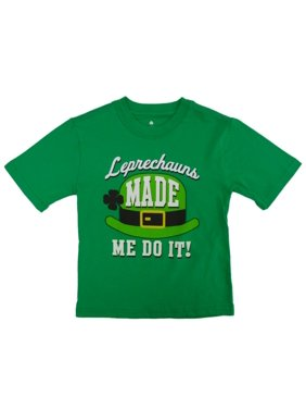 2c8a5edbc Product Image St. Patrick's Day Boys Green T-Shirt Leprechauns Made Me Do  It Shirt