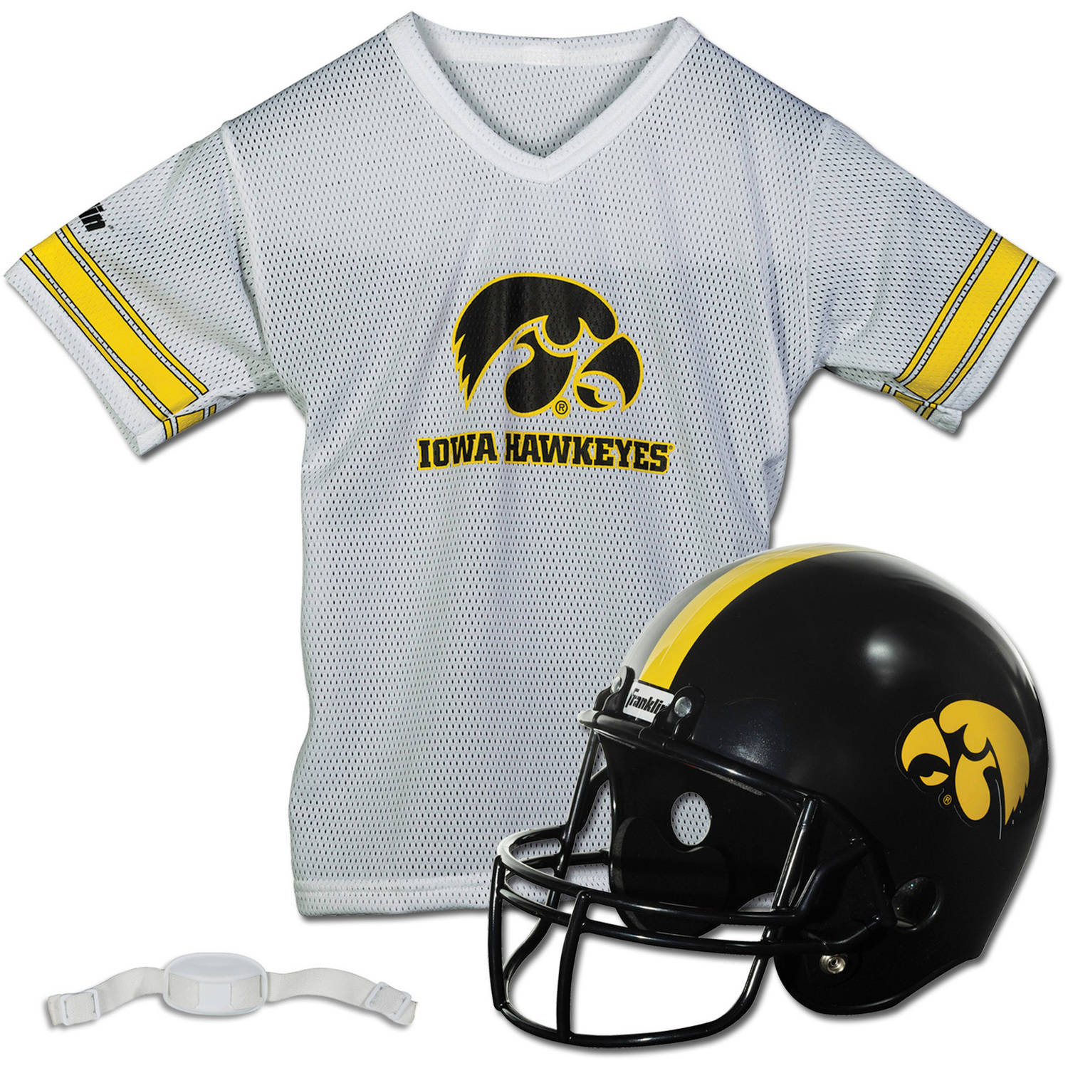 Franklin Sports NCAA Iowa Hawkeyes Helmet Jersey Set