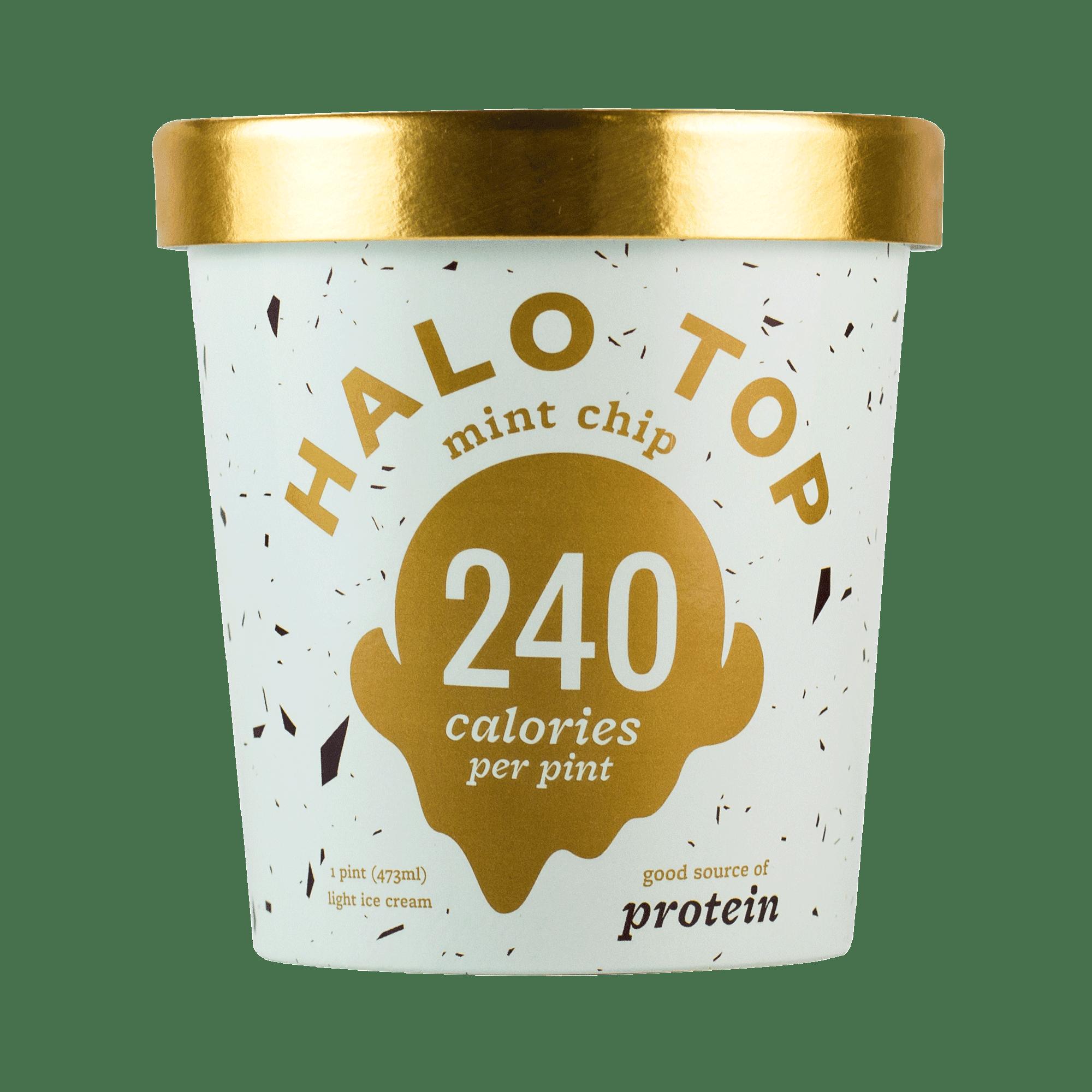Halo Top Mint Chip Ice Cream 1 pint Walmartcom