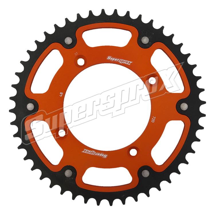 New Supersprox - Orange Stealth Sprocket, 48T, Chain Size 520, Rst-720-48-Org