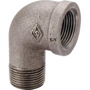 Worldwide Sourcing 6-1-1-4B 1.25 In. Malleable 90 Degrees Street Elbow, Black