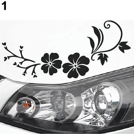 Removable Reflective Flower Vine Car Bonnet Body Window Sticker Car Auto Decal