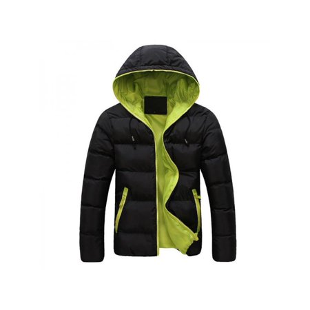 Men's Jacket Coat,Sweetsmile Winter Casual Warm Thick Slim Cotton-padded Jacket Hooded Coat Parka Overcoat For Men Clearance