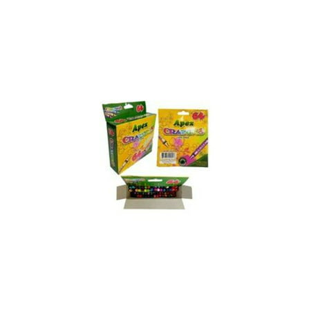 Apex Crayon 64ct - Assorted Colors Case Pack 48 (64 Pack Of Crayons In Color Order)