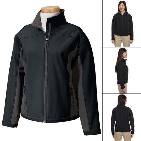 Women's 3 Season Rain Softshell Jacket Fleece Lined Black/Gray (Best Softshell Cycling Jacket)