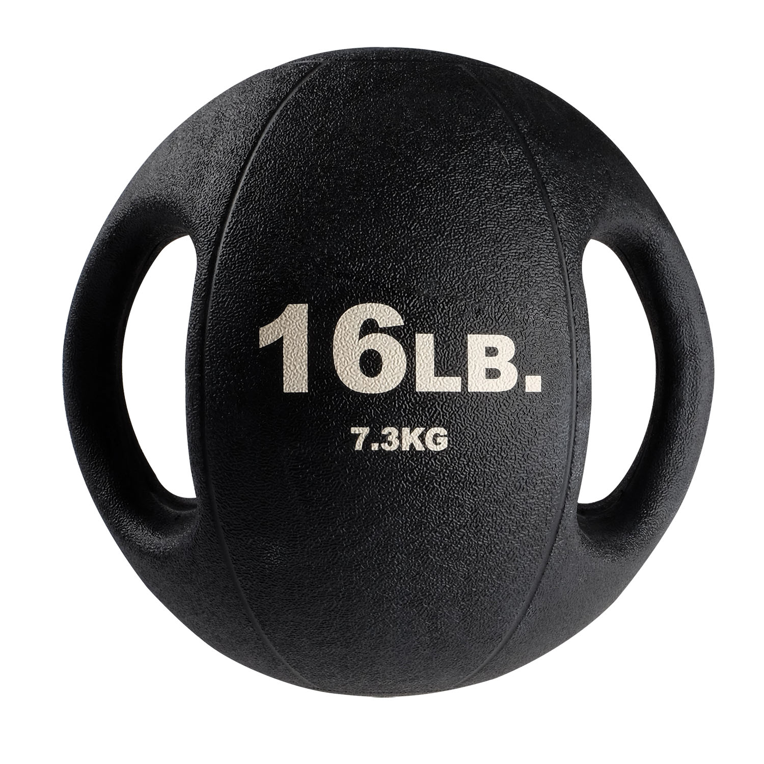BSTDMB16 16lb BLack Dual Grip Medicine Ball
