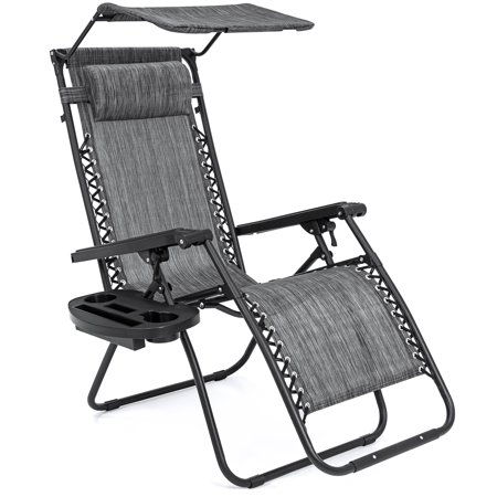 Best Choice Products Zero Gravity Chair W Canopy Shade Magazine Cup Holder
