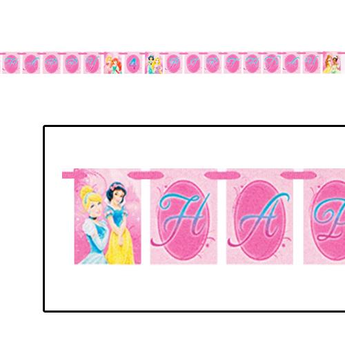 Disney Princess 'Sparkle and Shine' Happy Birthday Banner (1ct)