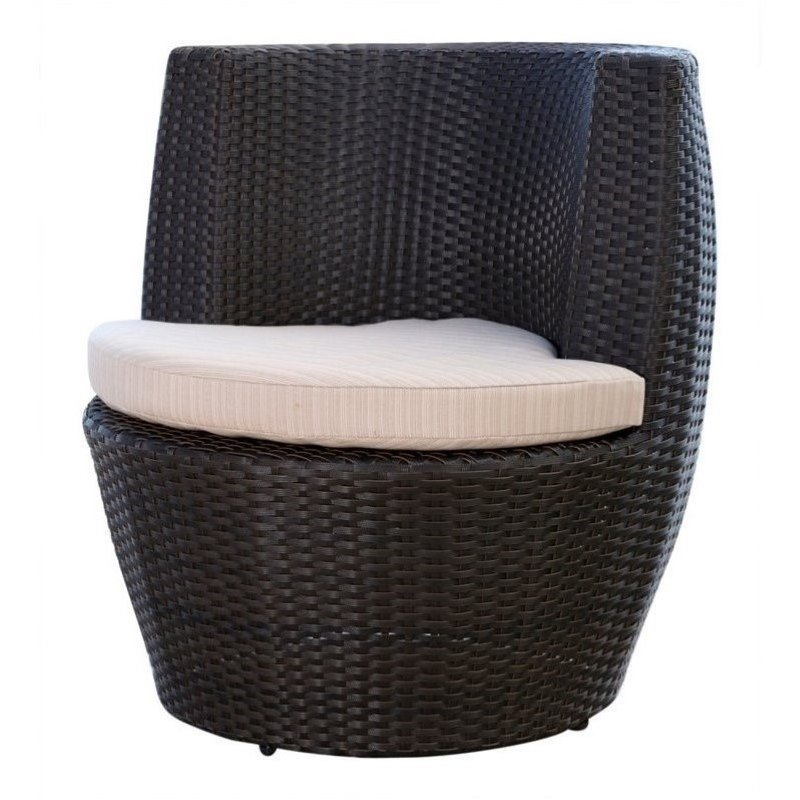 Bowery Hill Outdoor Wicker Bistro Chair in Espresso by Bowery Hill