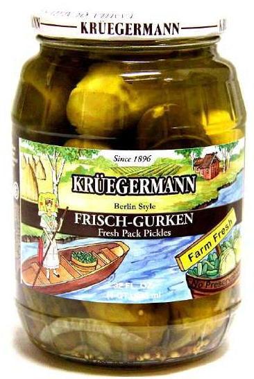 Kruegermann Frischgurken Berlin Style Pickles (32 floz) by Kruegermann