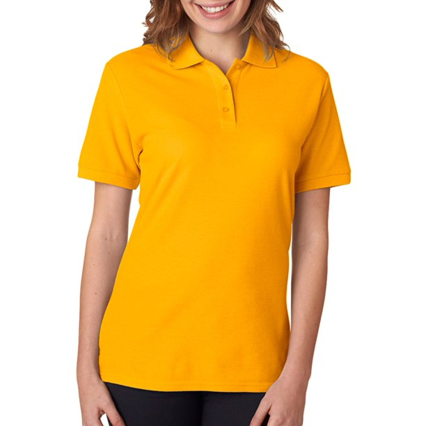 Jerzees Womens Wrinkle-Resistant Polo Shirt, Gold, Small, Style, 537WR