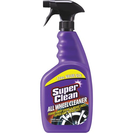 SuperClean Foaming All Wheel Cleaner, Safe for all Wheels & Rims, Brake Dust Cleaner, Grime Eliminator, 32 ounce Value Size
