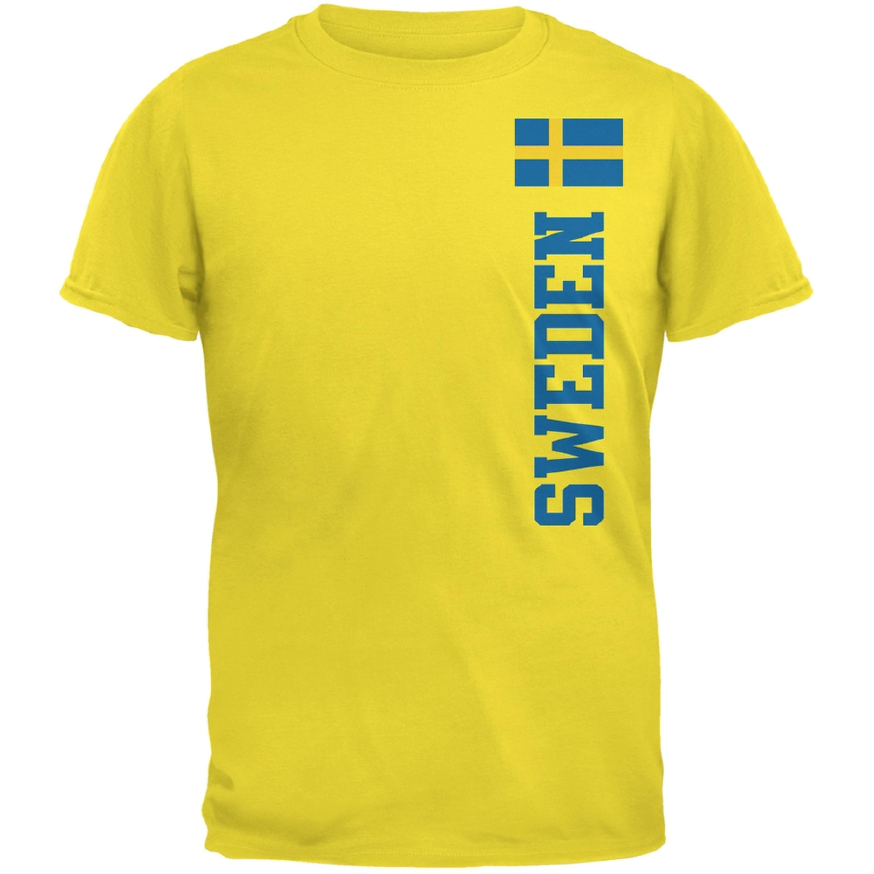 World Cup Sweden Yellow Adult T-Shirt
