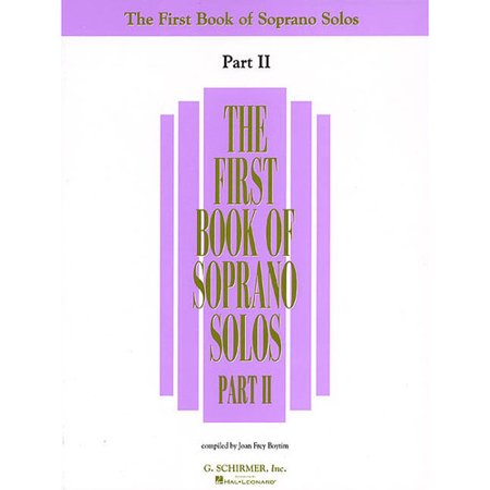 The First Book of Soprano Solos, Part II