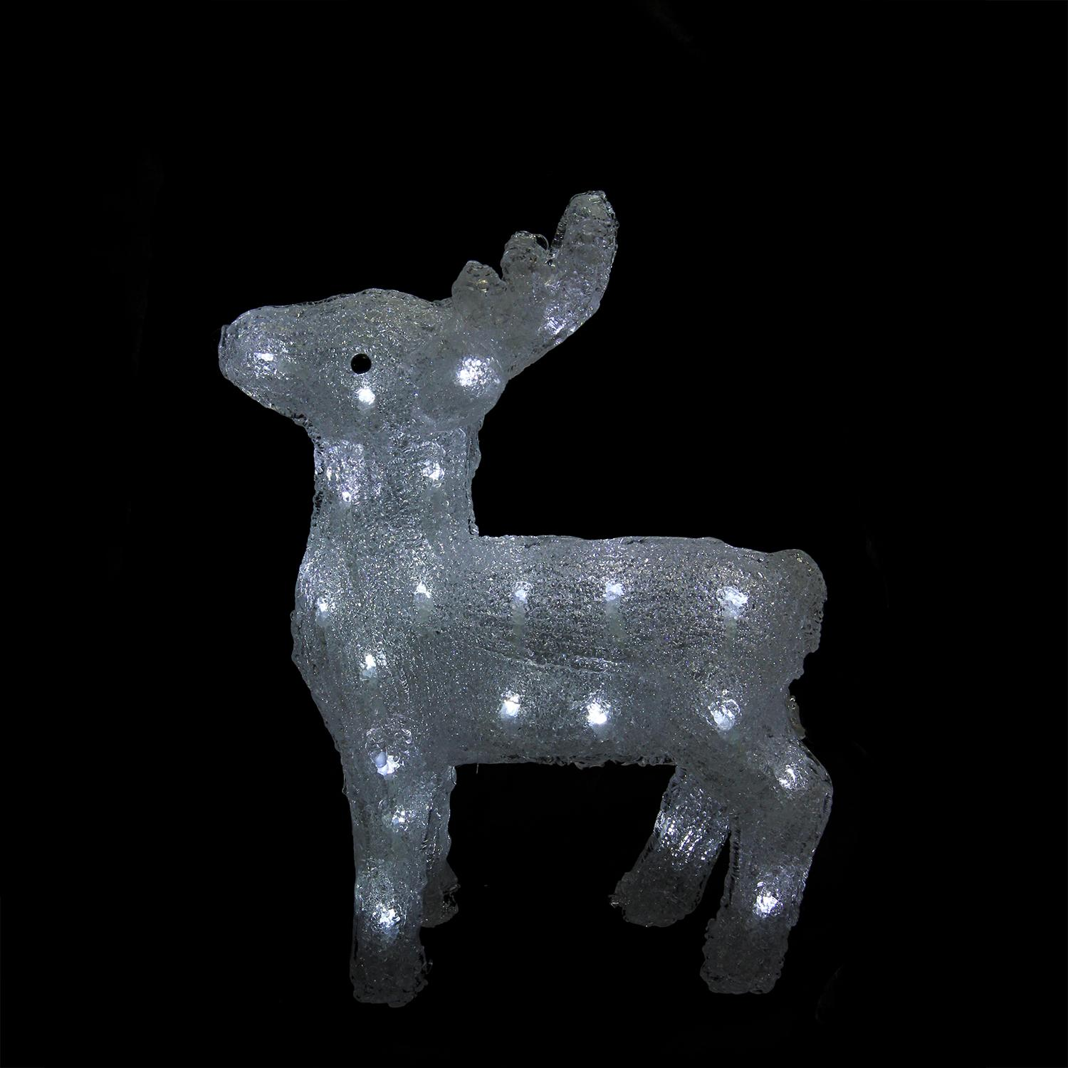 "15"" Lighted Commercial Grade Acrylic Baby Reindeer Christmas Display Decoration - image 1 of 2"