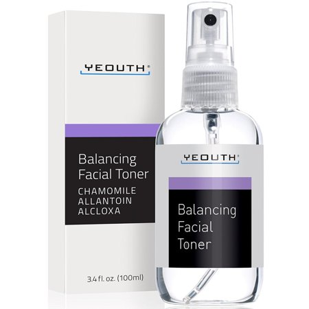 YEOUTH Facial Toner, Hydrating Face Toner - Prep, Tone, Refresh, Skin - Pore Minimizer, Mild Astringent, Face Mist, Perfect for Cleanser, Serum, Moisturizer and Gel Regiment - Best Anti Aging