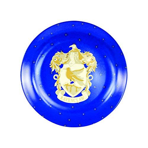 """Harry Potter Ravenclaw Christmas Holiday Salad Dessert Plates, Set of 4 - Porcelain - 7.5"""""""