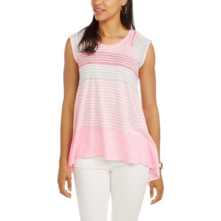California Happenings Women's Cap Sleeve Sharkbite Blouse