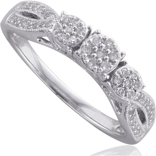 Forever Bride 1/3 Carat T.W. Diamond Sterling Silver Engagement Ring