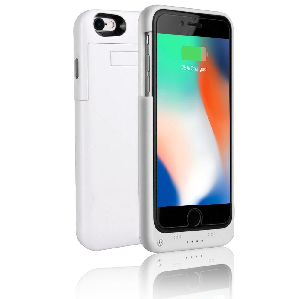 buy online 26533 96366 Indigi Slim External PowerBank Battery Case for iPhone 8 Plus - 4000mAh -  White