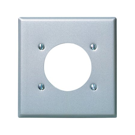 Leviton 001-4934 Two Gang Aluminum Finish Power Outlet Receptacle (Hole 2 Gang Aluminum Outlet)