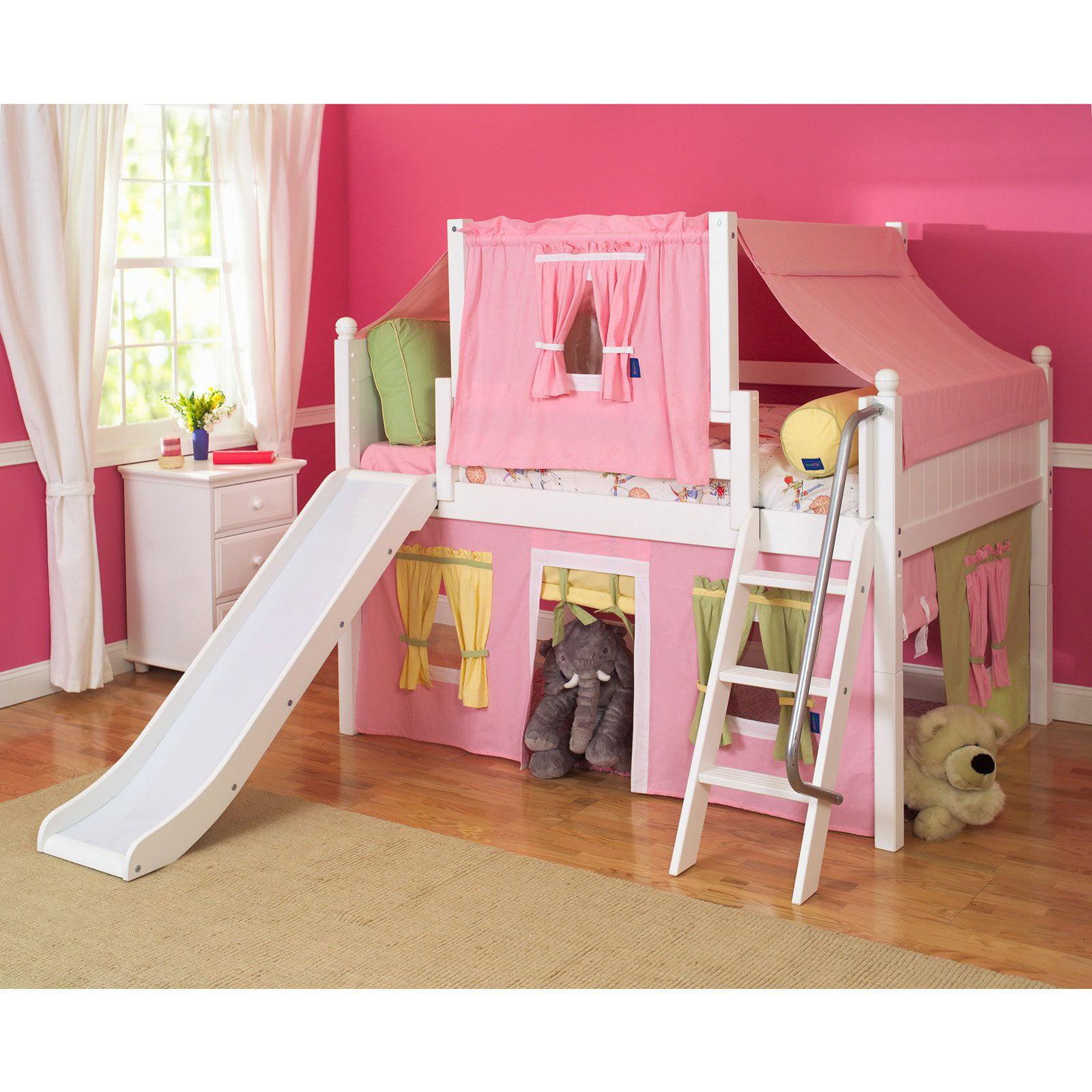 Girls loft bed with slide - Girls Loft Bed With Slide 5