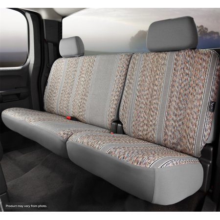 Fia TR42-52 GRAY Wrangler Custom Seat Cover; Saddle Blanket; Gray; Split Seat 40 Driver/60 Passenger w/Adjustable Head Rests/Armrest/Storage Compartment w/Cupholder;
