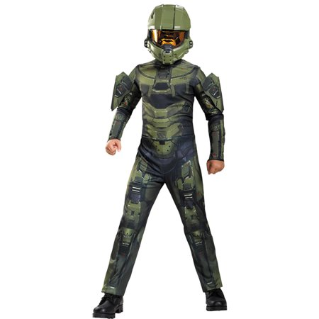 Morris Costumes Boys Halo Master Chief Jumpsuit Green 14-16, Style DG89968J - Halo Master Chief Costumes