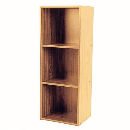 size 40 158fd b33d3 HURRISE Wooden Bookcase Narrow 3 Tiers Bookshelf, Wood