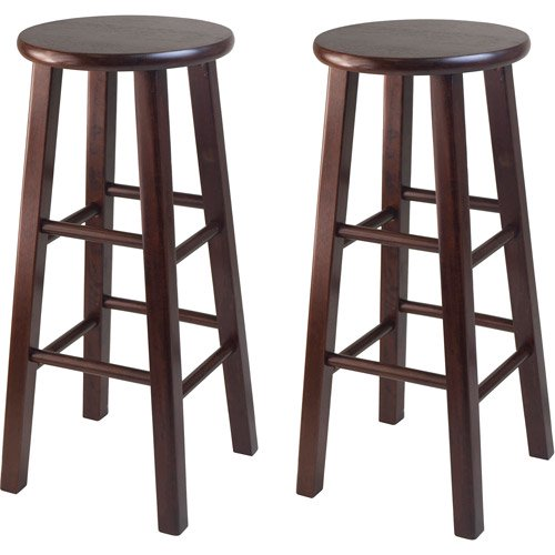 Winsome Wood Pacey 29 Bar Stools Set Of 2 Antique Walnut