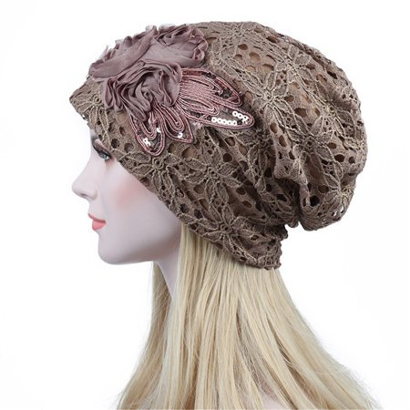Fashion Lady Lace Muslim Ruffle Cancer Chemo Hat Beanie Scarf Turban Head Wrap Cap Hat