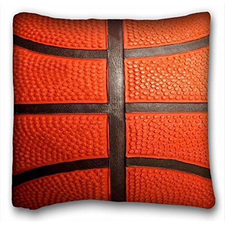 Basketball Pillow (WinHome Basketball Pattern Zippered Pillowcase Throw Pillow Case Cases Cover Cushion Covers Home Decorative Sofa Size 18x18 Inches Two Side )