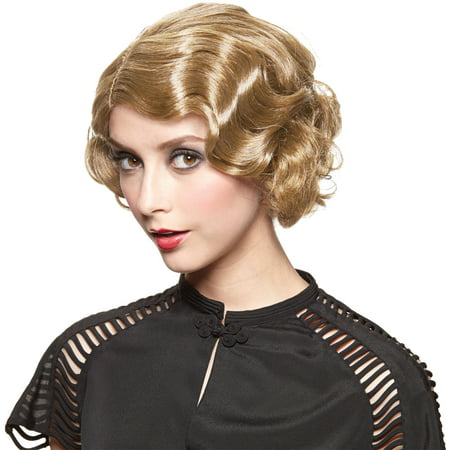 Golden Blonde Wig Gatsby Girl Adult Halloween Accessory](Blonde Halloween Ideas)