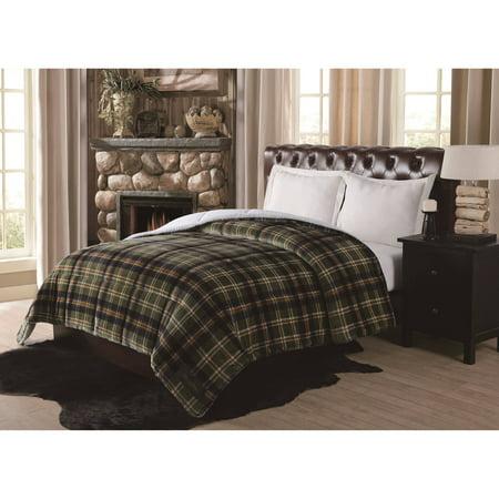 Remington Supreme Velvet Green Plaid Comforter