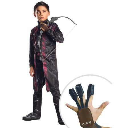 Avengers 2 Deluxe Hawkeye Costume for Kids and Hawkeye Archer Captain America 3 Gloves For Child (Cheap Hawkeye Costume)