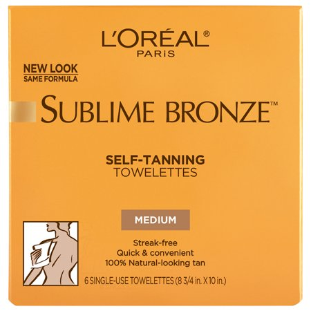 Bronze Gradual Self Tanning Lotion - L'Oreal Paris Sublime Bronze Self-Tanning Towelettes for Body