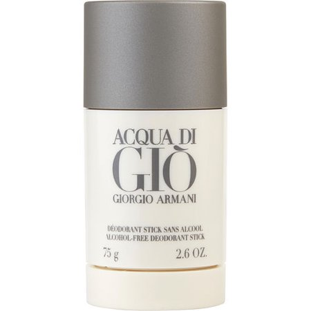 Giorgio Armani Acqua Di Gio Alcohol Free Deodorant Stick for Men, 2.6 Oz