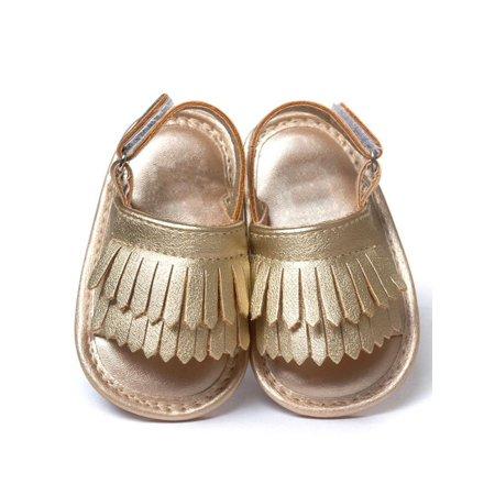 Sweetsmile - Sweetsmile Summer Kids Baby Girls Sandals Tassel Anti ... 0ff90f254f9d