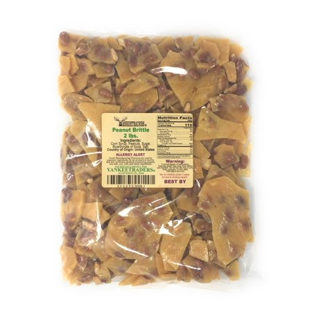 Brittle Candy - YANKEETRADERS Home Style Peanut Brittle Candy, 2 Pounds