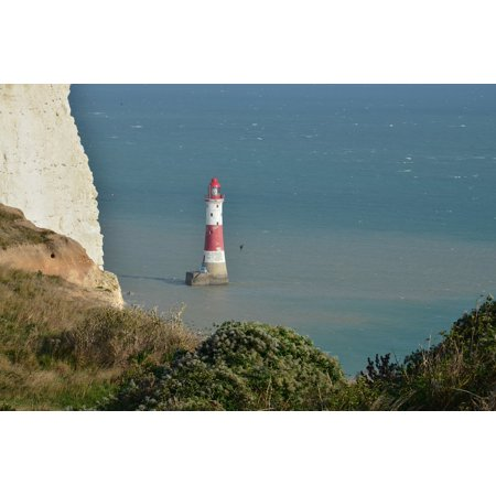 East Coast Lighthouses - LAMINATED POSTER Beachyhead Lighthouse Sea Coast East Sussex Poster Print 24 x 36