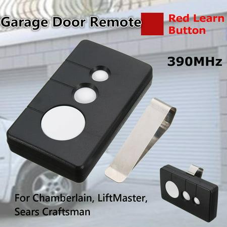 1/2Pcs 390MHz Garage Door Remote Opener Fit Sears Craftsman Chamberlain LiftMaster 3BTN