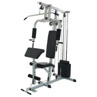 BalanceFrom Home Gym System Workout Station with 330LB of Resistance, 125LB Weight Stack