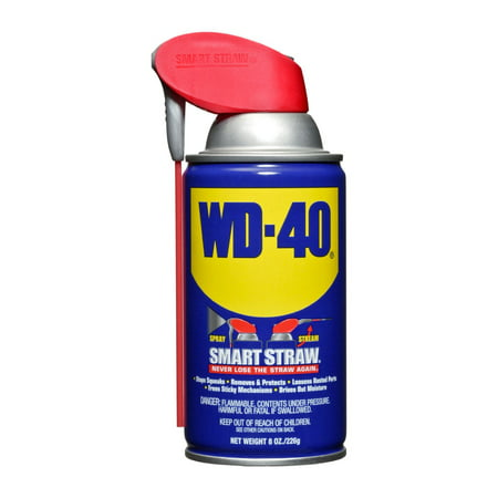 WD-40 Multi-Use Product Spray Lubricant with Smart Straw, 8 oz. WD40 Spray