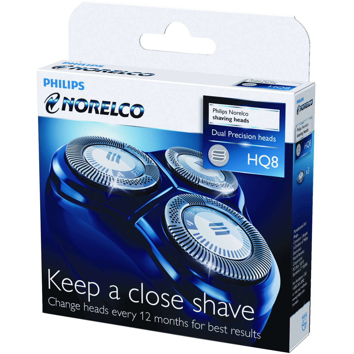Philips Norelco replacement Shaving Heads, HQ8/52