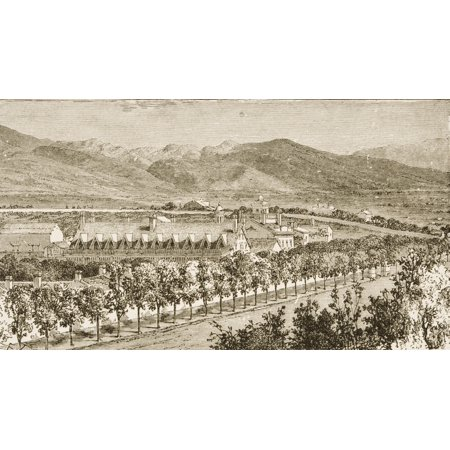 Residence Of Brigham Young Salt Lake City Utah In 1870S From American Pictures Drawn With Pen And Pencil By Rev Samuel Manning Circa 1880 Canvas Art - Ken Welsh  Design Pics (19 x 10)