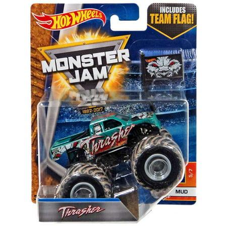 Hot Wheels Monster Jam 25 Thrasher Diecast Car - Halloween Monster Mud Run