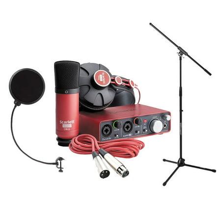 focusrite scarlett studio pack w cm25 microphone headphones 2i2 code for software bundle mic. Black Bedroom Furniture Sets. Home Design Ideas